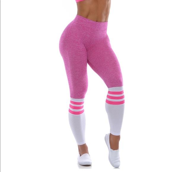 d9aedce85afaf1 bombshell sportswear Pants - Bombshell Sportswear Sock Leggings (Pink)